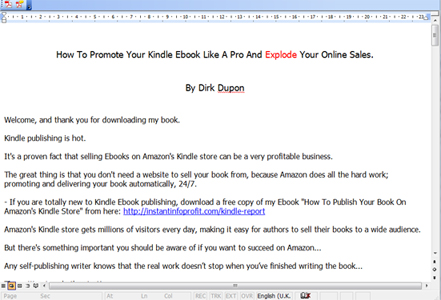 Click to view Kindle Book Promotion Tips 1 screenshot